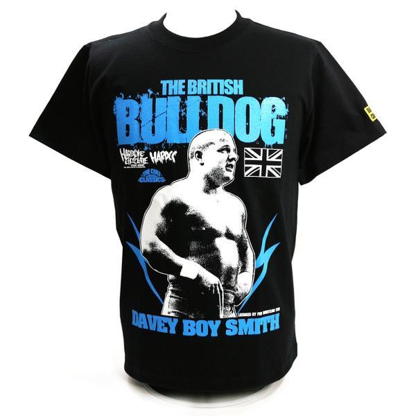 新日本プロレス NJPW デイビー・ボーイ・スミス/ブリティッシュ・ブルドッグ(ブラック) Tシャツ Hardcore Chocolate/ハードコアチョコレート|bdrop
