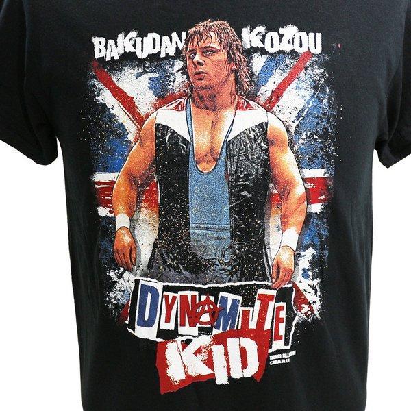 Legends Dynamite Kid(ダイナマイト・キッド) Bakudan Kozou ブラックTシャツ bdrop 02