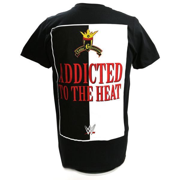 WWE Eddie Guerrero(エディ・ゲレロ) Addicted to the Heat Retro ブラックTシャツ|bdrop|04