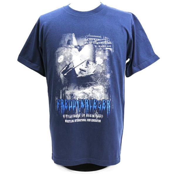 Tシャツ W★ing フレディ・クルーガー ネイビー|bdrop
