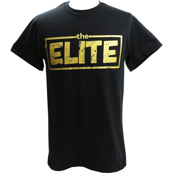 お1人様各サイズ2枚まで:新日本プロレス NJPW Golden Elite(ゴールデンエリート) ブラックTシャツ|bdrop