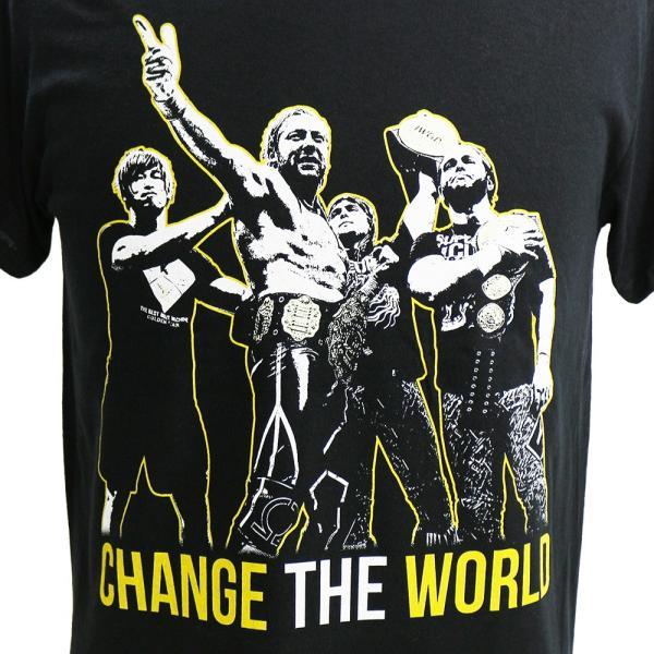 新日本プロレス NJPW Golden Elite(ゴールデンエリート) Change The World ブラックTシャツ|bdrop|02