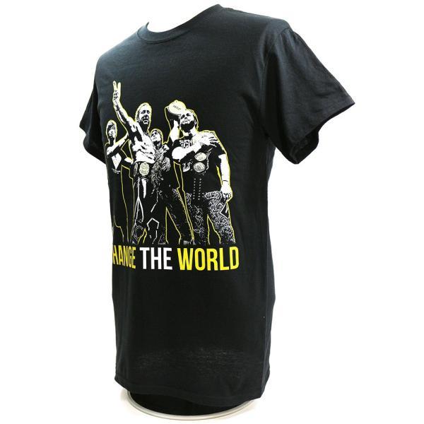 新日本プロレス NJPW Golden Elite(ゴールデンエリート) Change The World ブラックTシャツ|bdrop|03