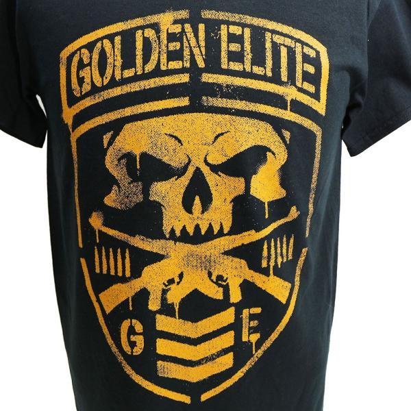 新日本プロレス NJPW Golden Elite(ゴールデンエリート) Shield ブラックTシャツ|bdrop|02