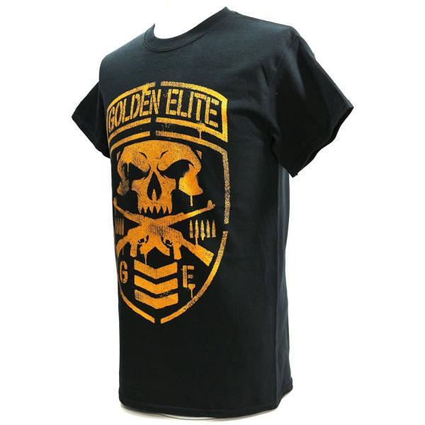 新日本プロレス NJPW Golden Elite(ゴールデンエリート) Shield ブラックTシャツ|bdrop|03