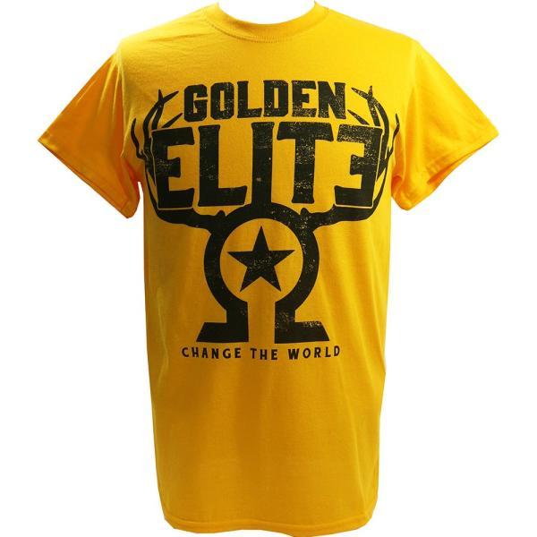 新日本プロレス/NJPW Golden Elite(ゴールデンエリート) The Golden Elite イエローTシャツ bdrop