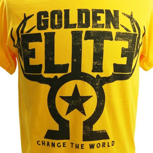 新日本プロレス/NJPW Golden Elite(ゴールデンエリート) The Golden Elite イエローTシャツ bdrop 02