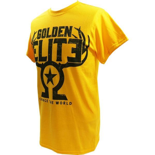 お1人様各サイズ2枚まで:新日本プロレス/NJPW Golden Elite(ゴールデンエリート) The Golden Elite イエローTシャツ|bdrop|03