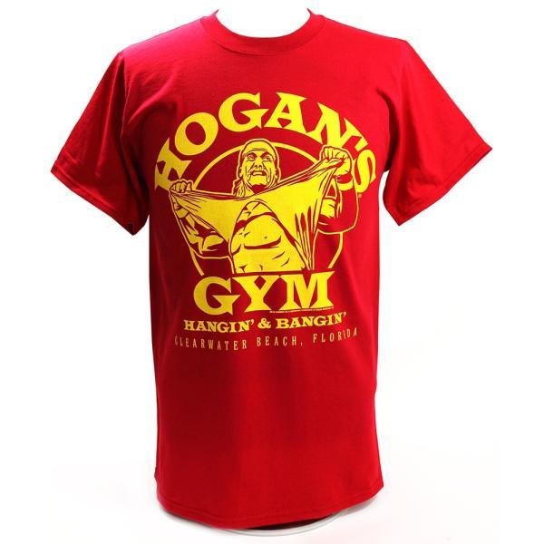 WWE Hulk Hogan(ハルク・ホーガン) Hogans Gym レッドTシャツ|bdrop