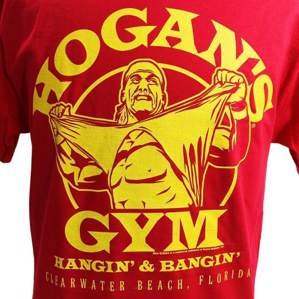 WWE Hulk Hogan(ハルク・ホーガン) Hogans Gym レッドTシャツ|bdrop|02