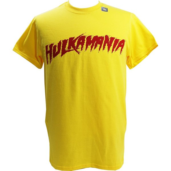 Tシャツ WWE Hulk Hogan(ハルク・ホーガン) Hulkamania イエロー|bdrop