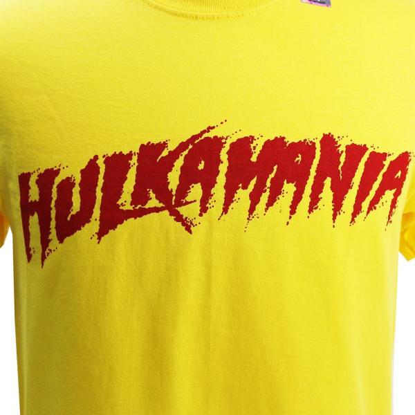 Tシャツ WWE Hulk Hogan(ハルク・ホーガン) Hulkamania イエロー|bdrop|02
