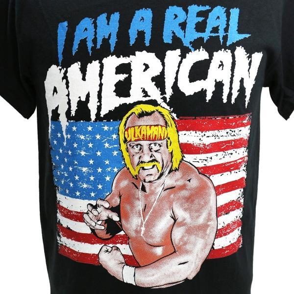 WWE Hulk Hogan(ハルク・ホーガン) Real American ブラックTシャツ|bdrop|02