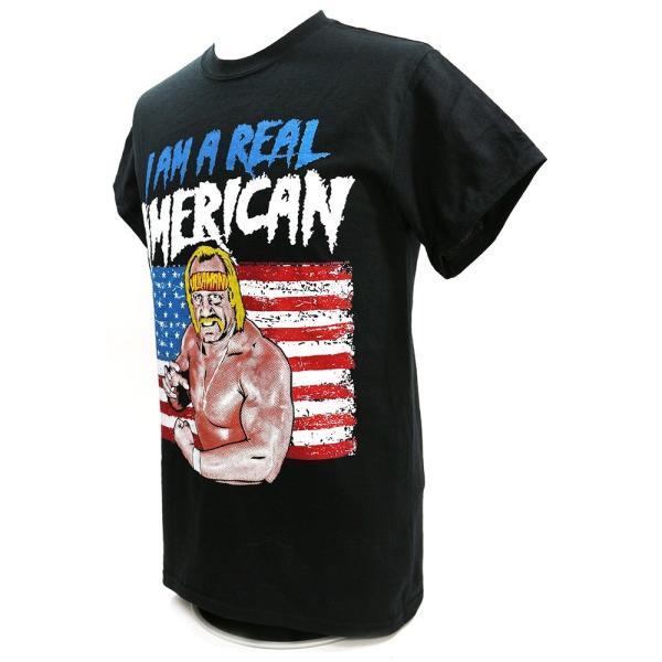 WWE Hulk Hogan(ハルク・ホーガン) Real American ブラックTシャツ|bdrop|03