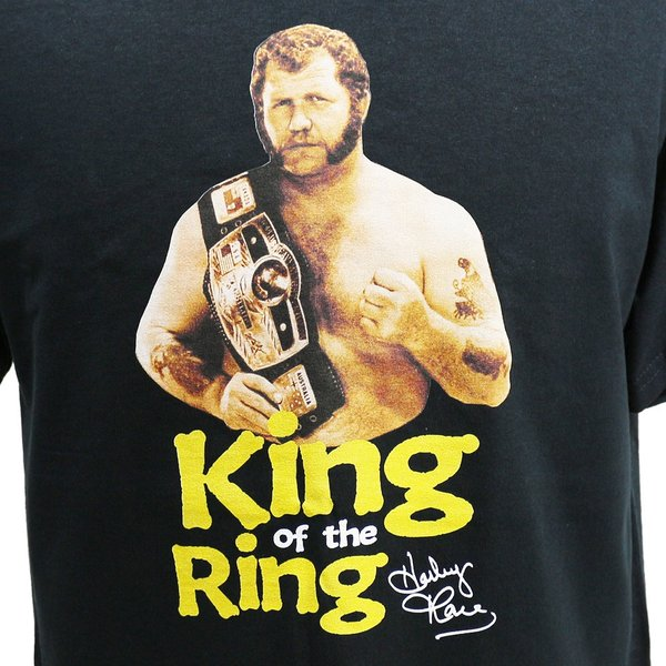 Tシャツ WWE Harley Race(ハーリー・レイス) King of the Ring ブラック bdrop 02
