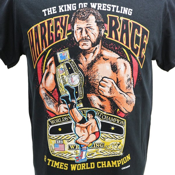 Tシャツ WWE Harley Race(ハーリー・レイス) The King of Wrestling ブラック bdrop 02