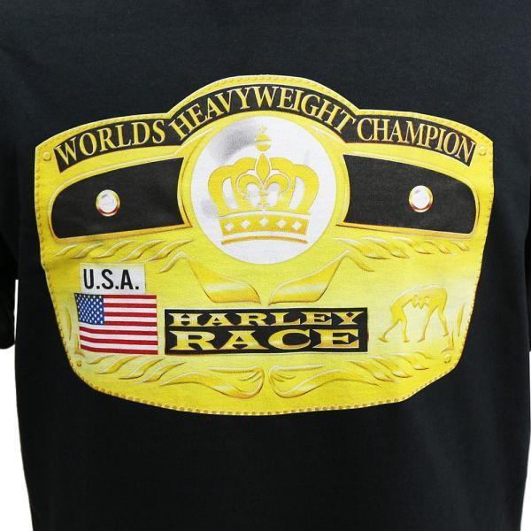 Tシャツ WWE Harley Race(ハーリー・レイス) Worlds Heavyweight Champion ブラック|bdrop|02