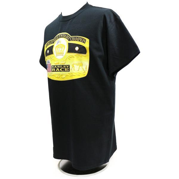 Tシャツ WWE Harley Race(ハーリー・レイス) Worlds Heavyweight Champion ブラック|bdrop|03