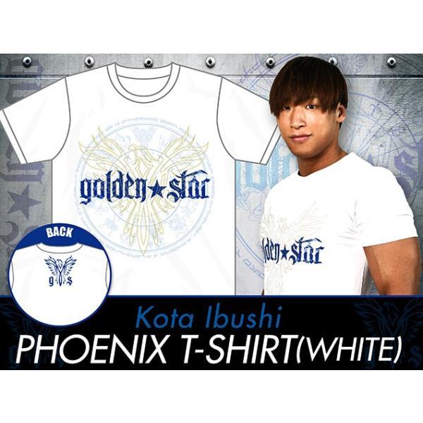 新日本プロレス NJPW 飯伏幸太「PHOENIX」Tシャツ(ホワイト) bdrop 05