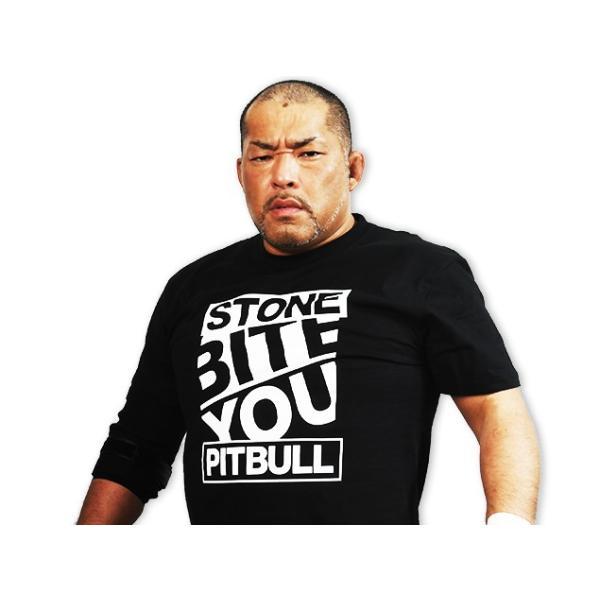 Tシャツ 新日本プロレス NJPW 石井智宏「STONE PITBULL ワード」|bdrop|02
