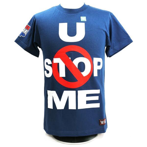 WWE John Cena (ジョン・シナ) U Cant Stop Me ネイビーTシャツ|bdrop