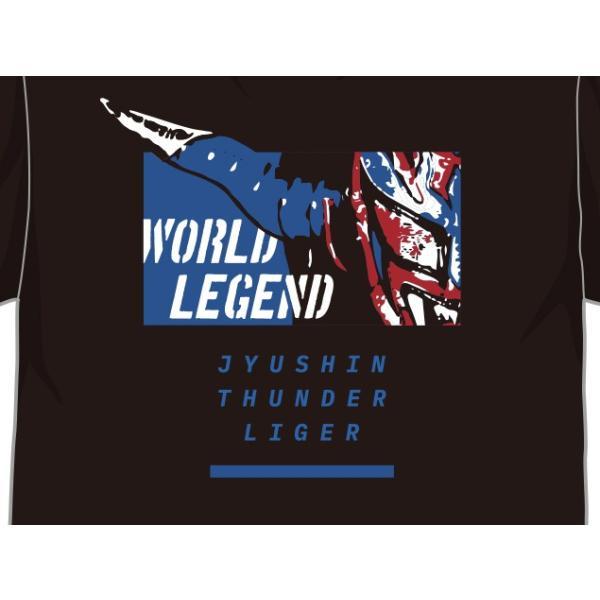 Tシャツ 新日本プロレス NJPW 獣神サンダー・ライガー「BLUE LIGER」|bdrop|03