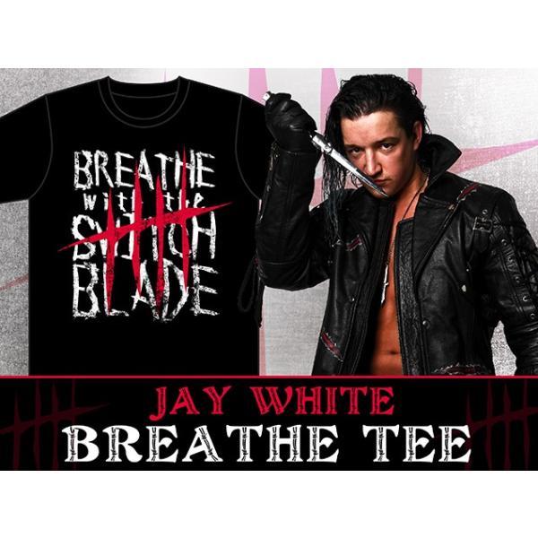 新日本プロレス NJPW ジェイ・ホワイト「BREATHE」Tシャツ|bdrop|03