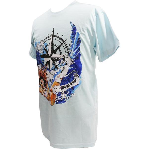 Tシャツ WWE Kairi Sane(カイリ・セイン) Rob Schamberger Art Print スカイブルー bdrop 03