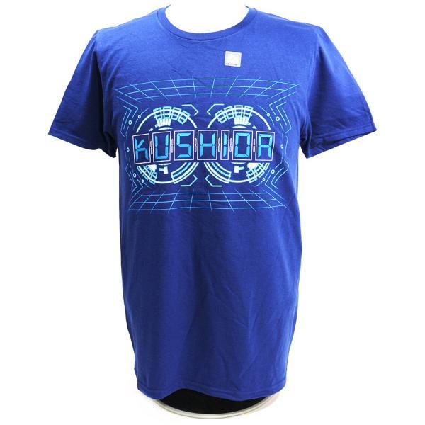 Tシャツ WWE Kushida(クシダ) NXT ネイビー bdrop