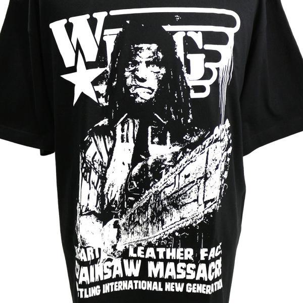 W☆ing レザーフェイス ブラックTシャツ|bdrop|02