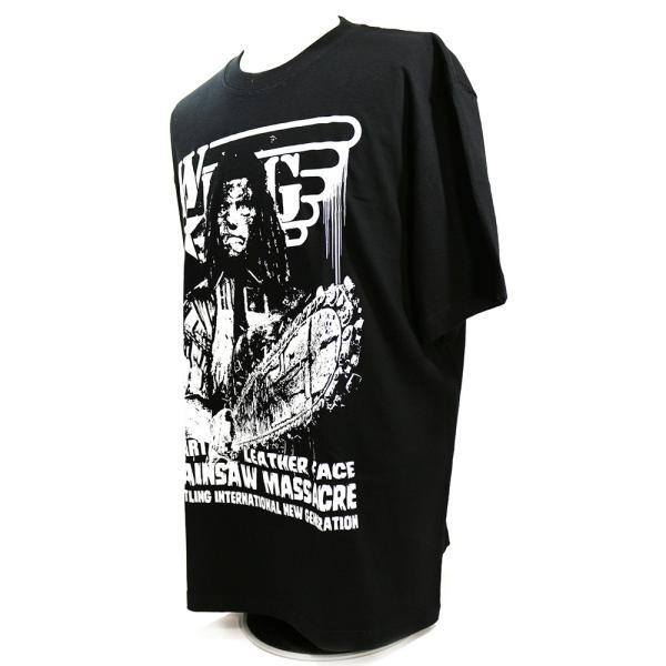 W☆ing レザーフェイス ブラックTシャツ|bdrop|03
