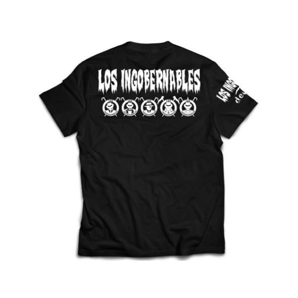 新日本プロレス/NJPW ロス・インゴベルナブレス・デ・ハポン L・I・J Tシャツ(ブラック×ホワイト)|bdrop|02