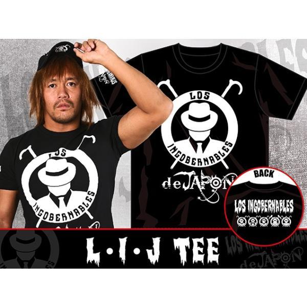 新日本プロレス/NJPW ロス・インゴベルナブレス・デ・ハポン L・I・J Tシャツ(ブラック×ホワイト)|bdrop|04