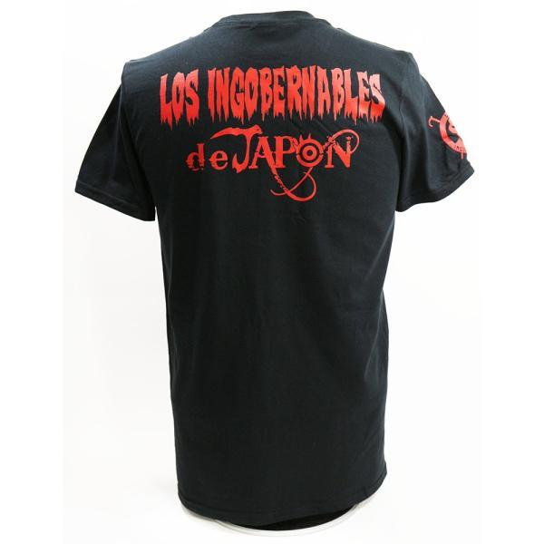 US版:新日本プロレス NJPW ロス・インゴベルナブレス・デ・ハポン LOS ブラックTシャツ|bdrop|05