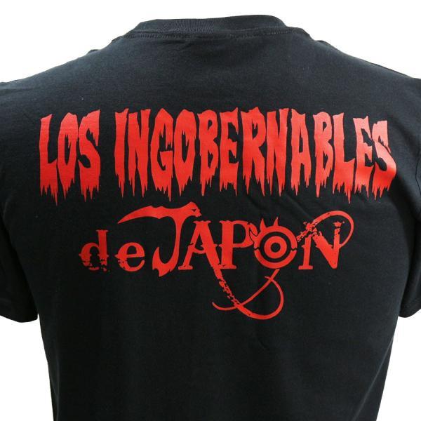 US版:新日本プロレス NJPW ロス・インゴベルナブレス・デ・ハポン LOS ブラックTシャツ|bdrop|06