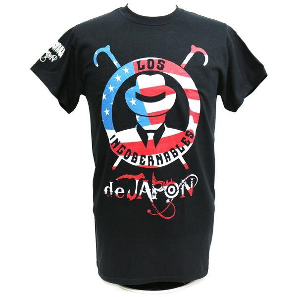 Tシャツ US版:新日本プロレス NJPW ロス・インゴベルナブレス・デ・ハポン USA2 ブラック|bdrop