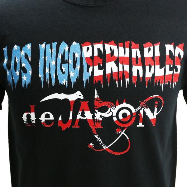 お1人様各サイズ2枚まで/US版:新日本プロレス NJPW ロス・インゴベルナブレス・デ・ハポン USA ブラックTシャツ|bdrop|02