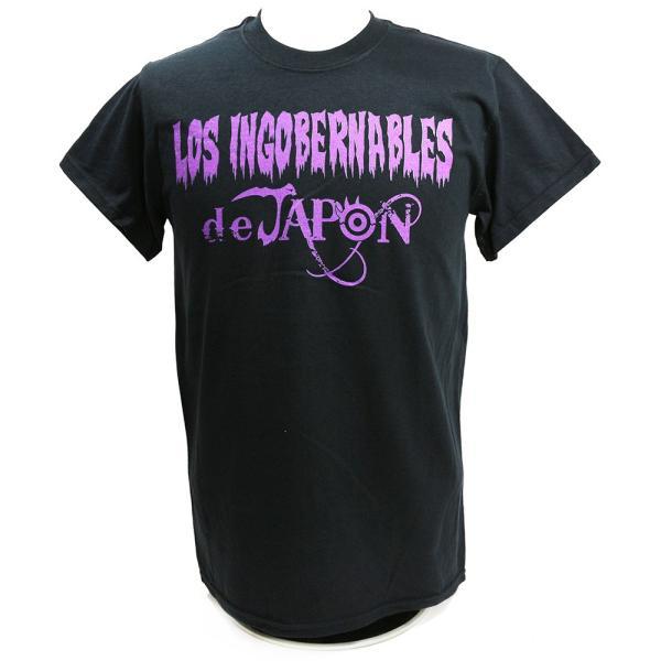 Tシャツ US版:新日本プロレス NJPW ロス・インゴベルナブレス・デ・ハポン Purple ブラック|bdrop