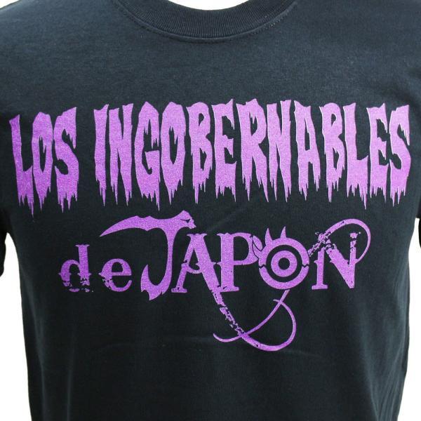 Tシャツ US版:新日本プロレス NJPW ロス・インゴベルナブレス・デ・ハポン Purple ブラック|bdrop|02