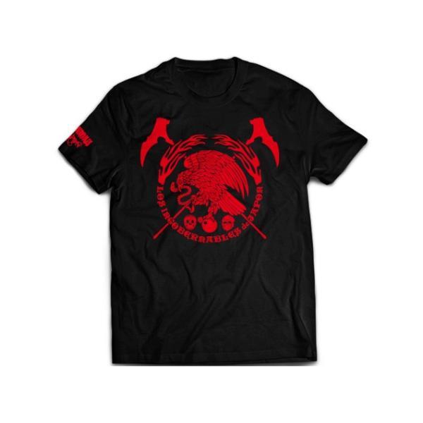 Tシャツ 新日本プロレス NJPW ロス・インゴベルナブレス・デ・ハポン L・I・J×AGUILA(レッド)|bdrop