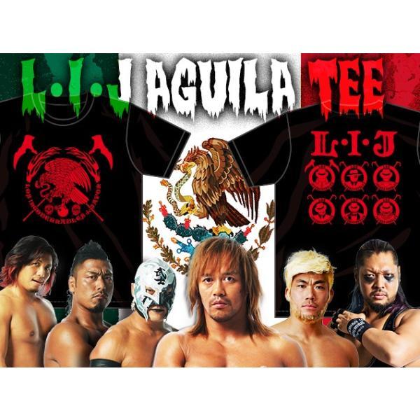 Tシャツ 新日本プロレス NJPW ロス・インゴベルナブレス・デ・ハポン L・I・J×AGUILA(レッド)|bdrop|03