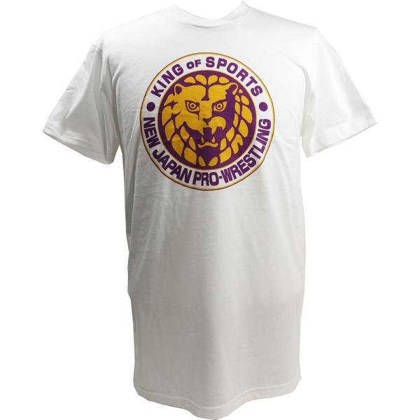 Tシャツ US版:新日本プロレス NJPW ライオンマーク Lakers ホワイト|bdrop