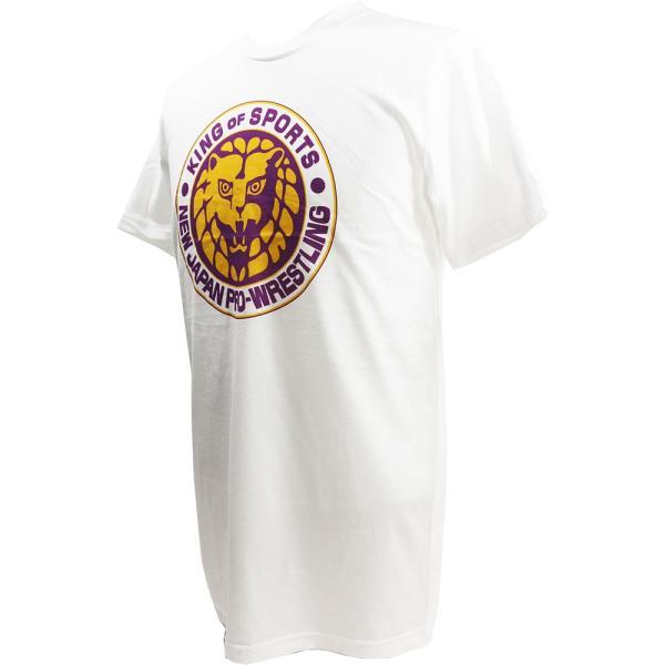 Tシャツ US版:新日本プロレス NJPW ライオンマーク Lakers ホワイト|bdrop|03