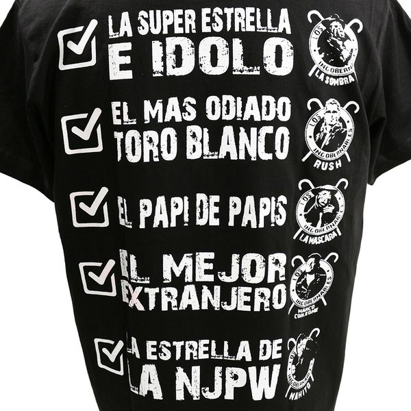 XXLサイズ:Tシャツ 新日本プロレス/NJPW 内藤哲也 ロス・インゴベルナブレス メキシコカラー|bdrop|05