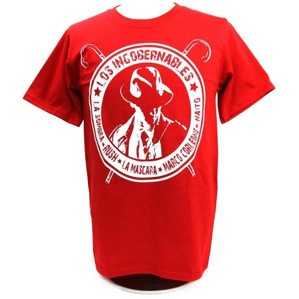 XXLサイズ:Tシャツ 新日本プロレス/NJPW 内藤哲也 ロス・インゴベルナブレス レッド bdrop