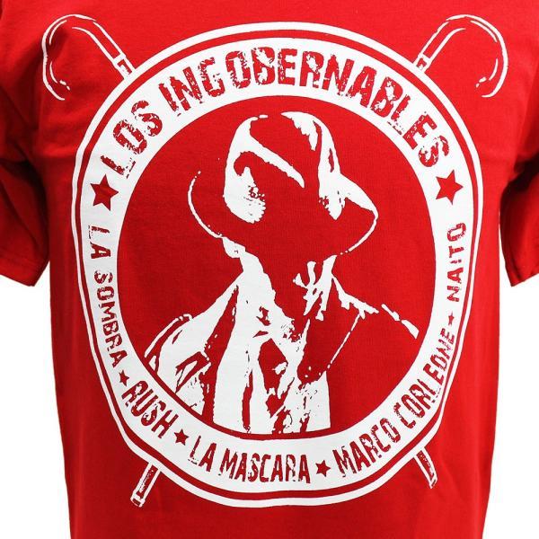 XXLサイズ:Tシャツ 新日本プロレス/NJPW 内藤哲也 ロス・インゴベルナブレス レッド bdrop 02