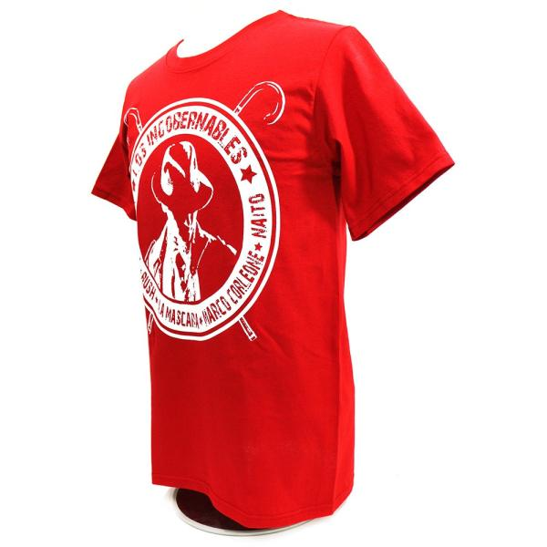 XXLサイズ:Tシャツ 新日本プロレス/NJPW 内藤哲也 ロス・インゴベルナブレス レッド bdrop 03
