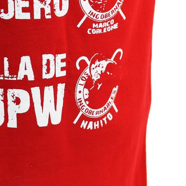 Tシャツ 新日本プロレス/NJPW 内藤哲也 ロス・インゴベルナブレス レッド|bdrop|06