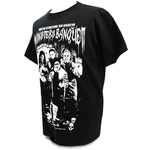 W☆ing モンスターズ・バンクェット ブラックTシャツ bdrop 03