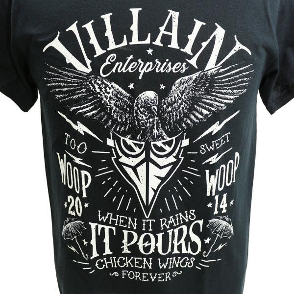 マーティー・スカル Villain Enterprises ブラックTシャツ|bdrop|02